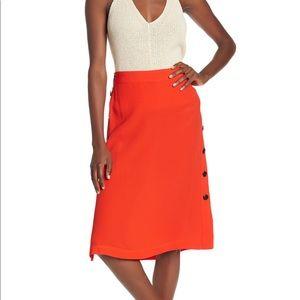 Madewell | side button midi skirt